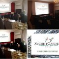 Secret Garden Conference room-Our boardroom facility seats up to 15 delegates. An air-conditioned room with state of the art equipment includes complimentary Wi-Fi,an overhead projector with HDMI which connects directly to clients laptop,pens and note pad